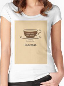 Coffee Addict, Espresso Women's Fitted Scoop T-Shirt