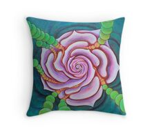 flower vortex Throw Pillow