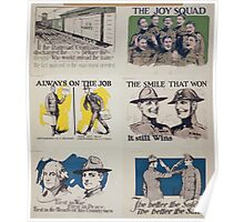 Always on the job Discharged as a soldier does not mean discharged as a citizen Poster