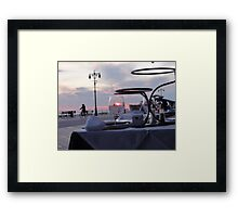 Through the water glass Framed Print