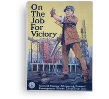 On the job for victory 002 Canvas Print