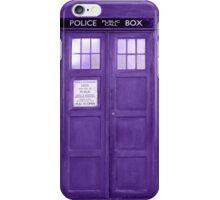 Retro Phone Boot In Purple Tones iPhone Case/Skin