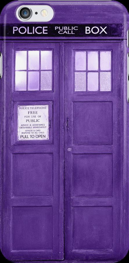 Retro Phone Boot In Purple Tones by artonwear