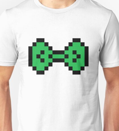 Green Pixel Bow Unisex T-Shirt