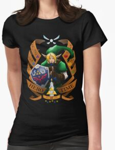 Hero of Time (Green) Womens Fitted T-Shirt