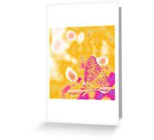 Pop Art Butterfly on leaf  Greeting Card