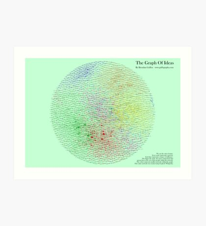 The Graph Of Ideas Version 2 Art Print