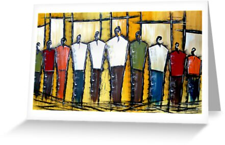 Abstract Men by Ged J