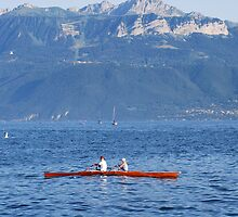 Kayaking on the lake by santoshputhran