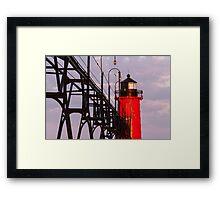 South Haven Michigan's South Pierhead Light at Dawn Framed Print