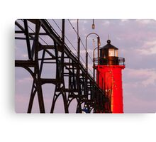 South Haven Michigan's South Pierhead Light at Dawn Canvas Print