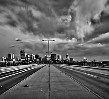 Denver Cityscape B/W by Adam Northam