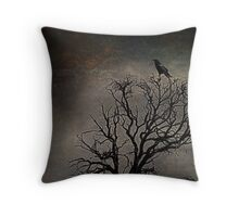 Black Bird Fly Throw Pillow