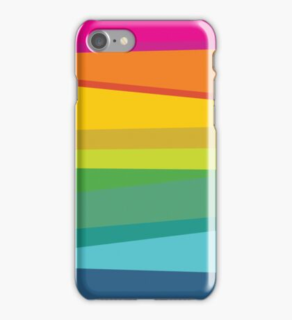 Retro Colorful Striped Seamless Abstract iPhone Case/Skin