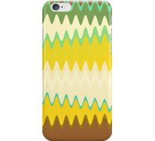 Retro Zigzag Colorful Chevron Striped Pattern iPhone Case/Skin