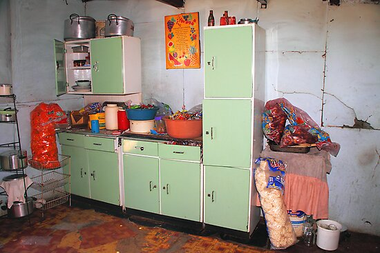 Kitchen in a Shanty, Soweto by Carole-Anne