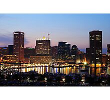 Baltimore Skyline Photographic Print