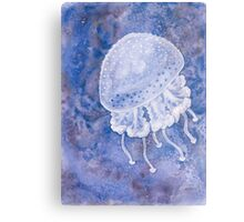 White Spotted Jellyfish Metal Print