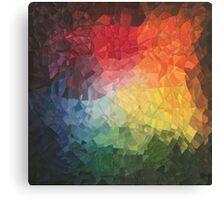 Rainbow Fragments - acrylic smash Canvas Print