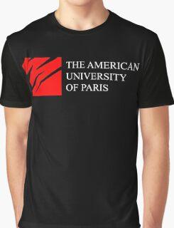 American University of Paris (AUP) - Black Background Graphic T-Shirt