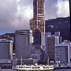 Hong Kong , Bank of China building, 1990. by johnrf