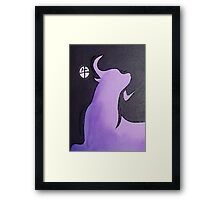 Lilac Year of the Ox Framed Print