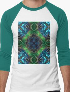 Psychedelic Fractal Manipulation Men's Baseball ¾ T-Shirt