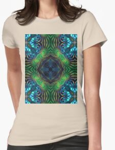 Psychedelic Fractal Manipulation Womens Fitted T-Shirt