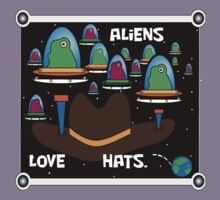 Aliens love hats. by OneWon Clothing