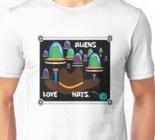 Aliens love hats. Unisex T-Shirt
