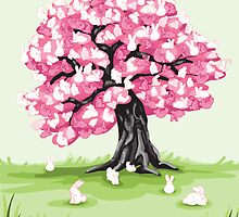 Bunny Blossom Tree by LittleTopper