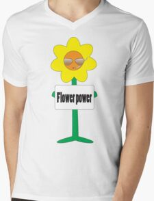bad ass flower  Mens V-Neck T-Shirt
