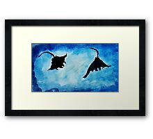 Giant Manta Rays, watercolor Framed Print