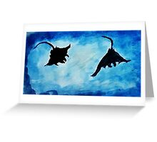Giant Manta Rays, watercolor Greeting Card