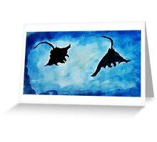 Giant Manta Rays, watercolor Greeting Card