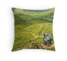 A Walk In The Park....The Green Valley Throw Pillow