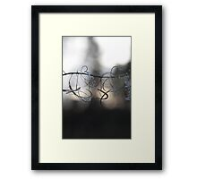 Curl Wire  Framed Print