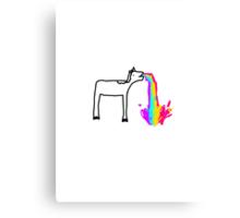 Unicorn :3 Canvas Print