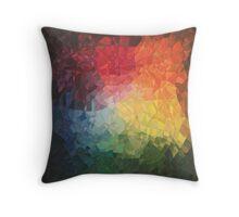 Rainbow Fragments - acrylic smash Throw Pillow