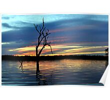On Still Waters, Menindee lakes, NSW Poster