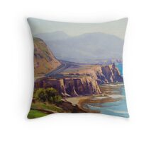 Big Sur Beach Throw Pillow