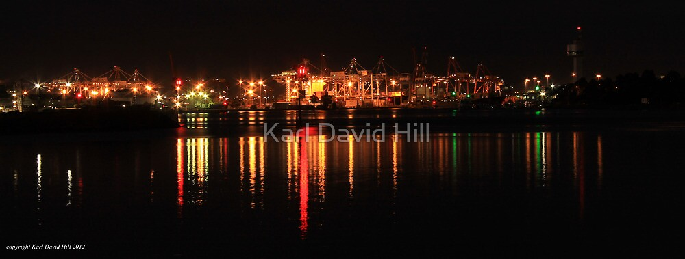 the docks at night (melbourne) 001 by Karl David Hill