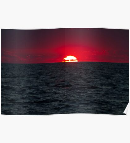 Telephoto red sunrise Poster