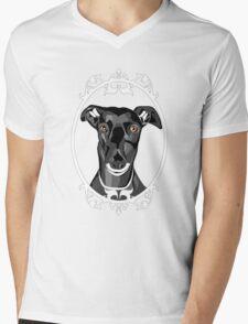 Boris the Greyhound Mens V-Neck T-Shirt