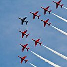 Red Arrows # 3 by Dale Rockell