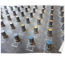 closeup on a sliders of a mixing console Poster