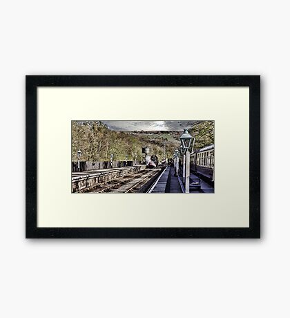 Looking Down The Platform Framed Print
