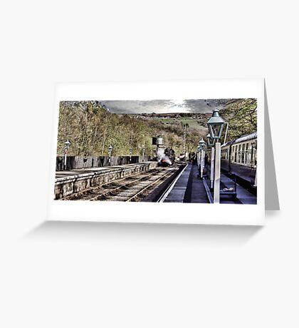 Looking Down The Platform Greeting Card