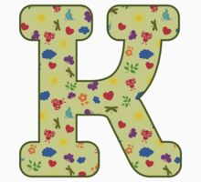 Spring pattern - Alphabet letter K Kids Clothes