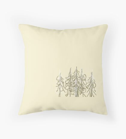 Tree cluster Throw Pillow